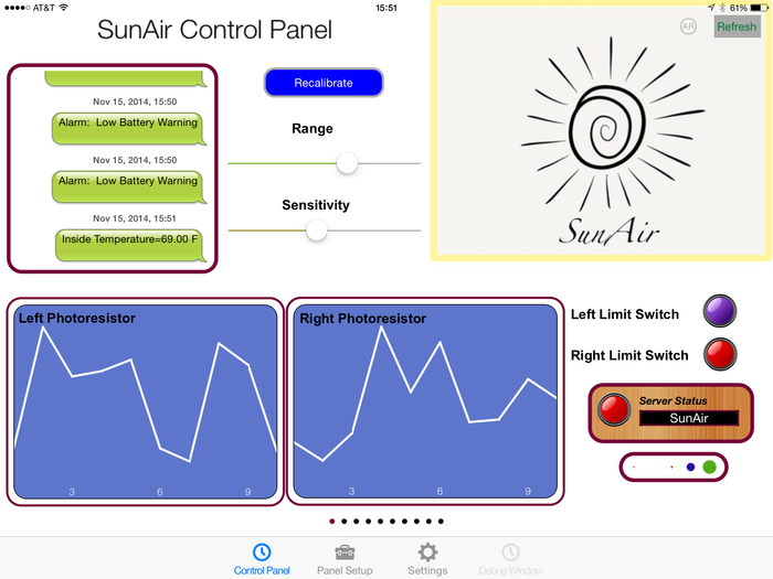 RasPiConnect Control Panel for SunAir (ArduinoConnect too!)