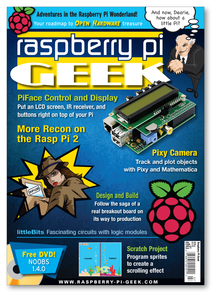 SwitchDoc Labs Makes the Cover of Raspberry Pi Geek Magazine