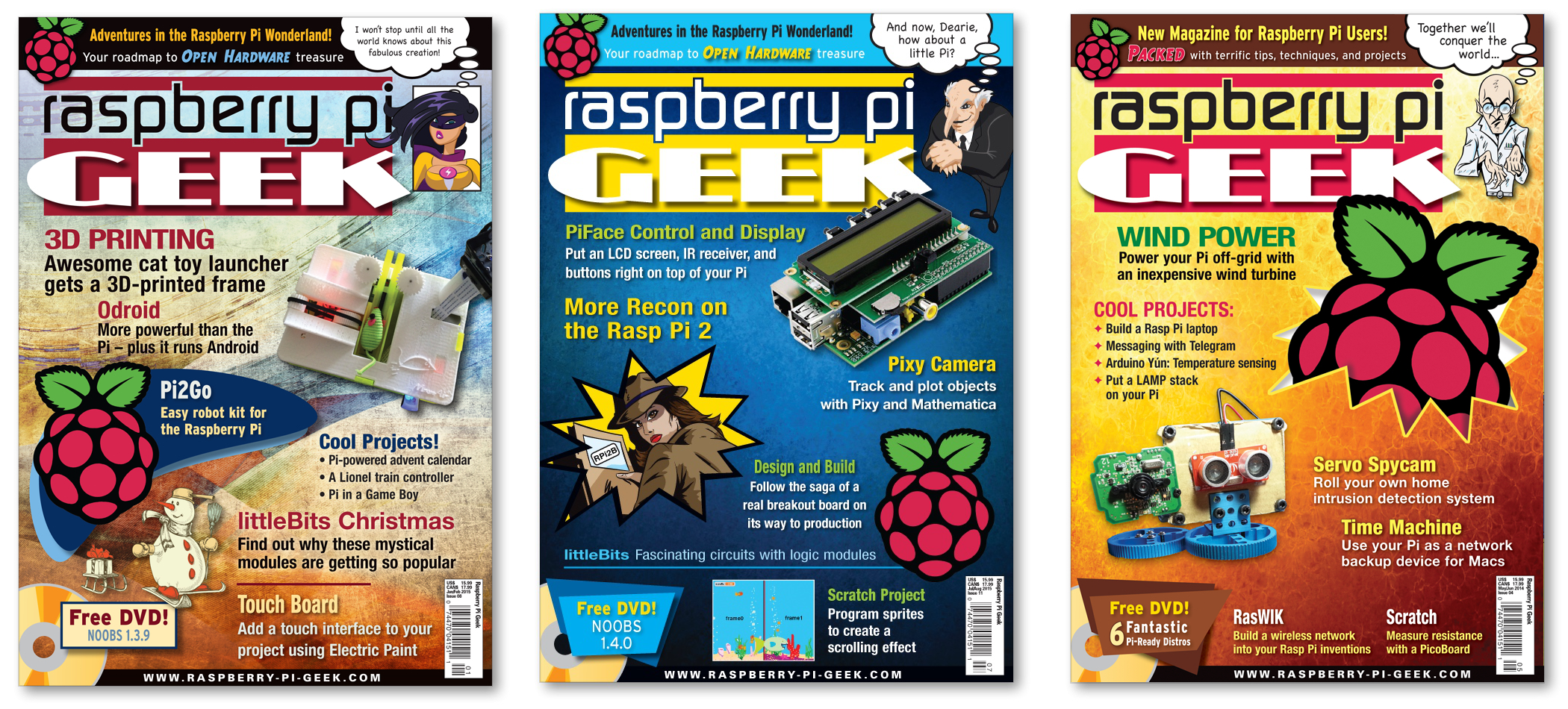 Three Covers for SwitchDoc Labs on Raspberry Pi Geek Magazine