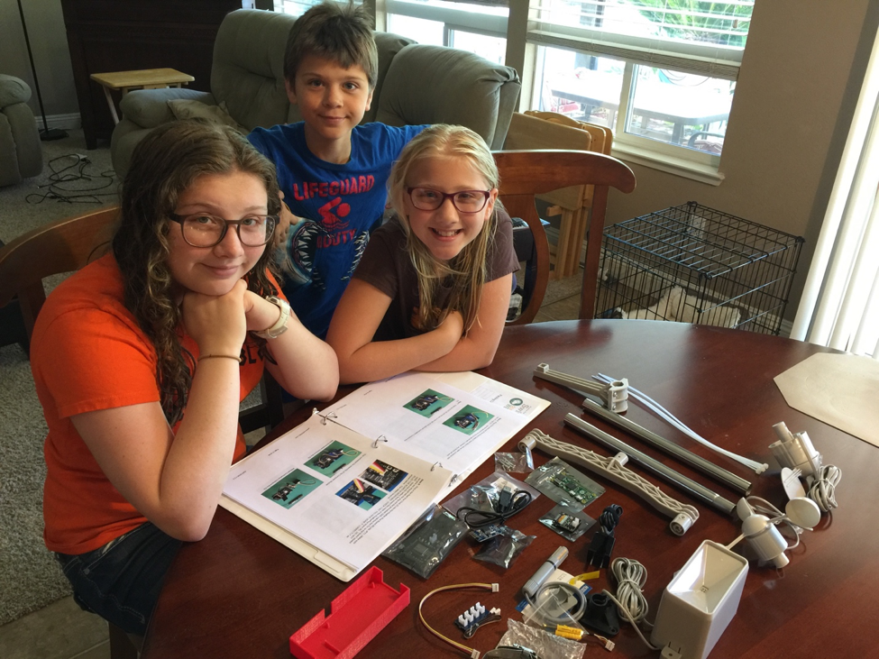 Dupré Family SwitchDoc Labs OurWeather STEM Station Build