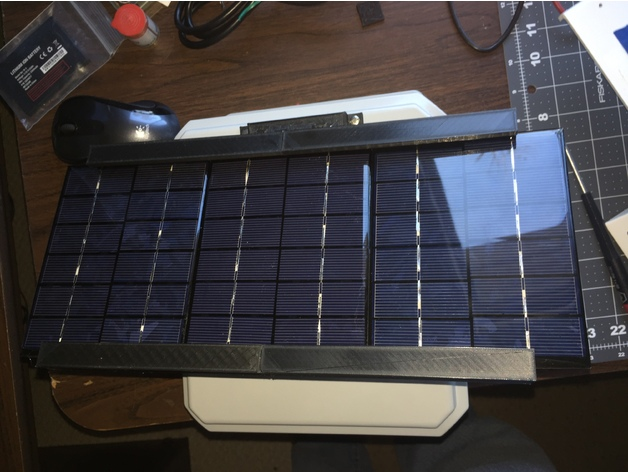New Solar Cell 3D Printed Bracket on Thingverse