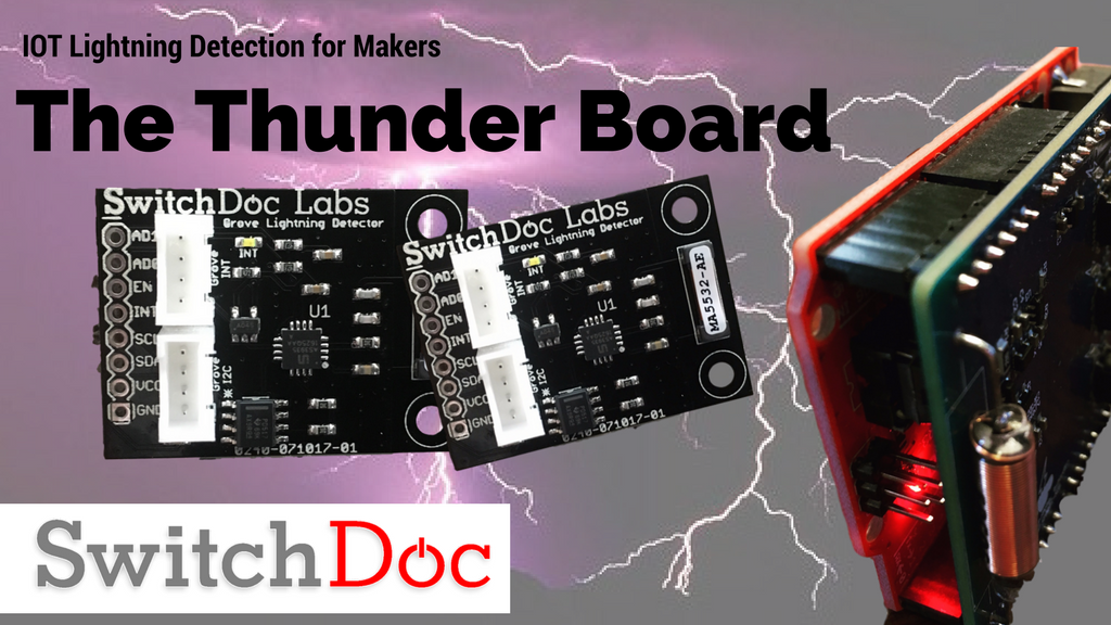 New - Thunder Board Lightning Detector and Simulator products